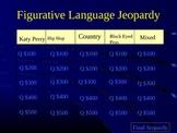 Figurative Language with Pop Music Jeopardy (Version 2)