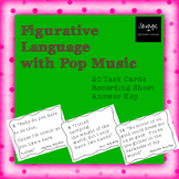 Figurative Language with Pop Music Task Cards