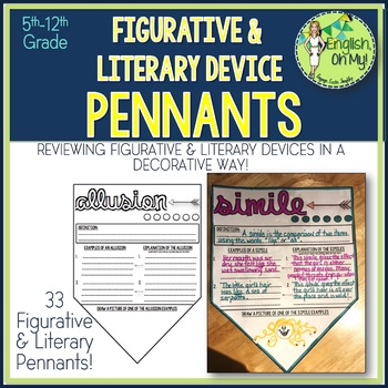 Figurative & Literary Devices Pennants-Decorative Banner