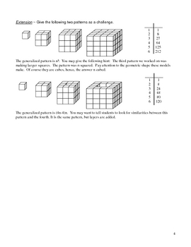 Figurative Number/Patterns Lesson Plan