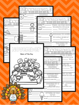 Figurative Speech: Idiom of the Day Seasonal Packet - November Thanksgiving