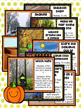 Figurative Speech: Idiom of the Day Seasonal Packet - October Halloween