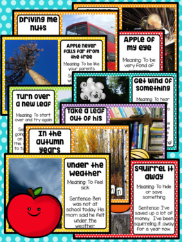 Figurative Speech: Idiom of the Day Seasonal Packet - September Fall