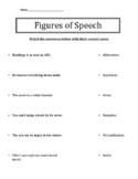 Figurative Speech Review or Quiz