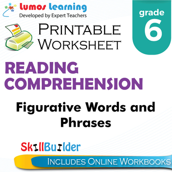 Figurative Words and Phrases Printable Worksheet, Grade 6