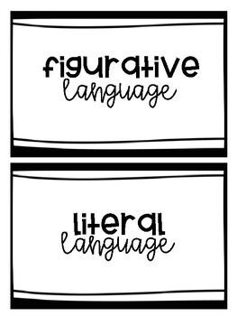 L.3.5a - Figurative and Literal Language Sort