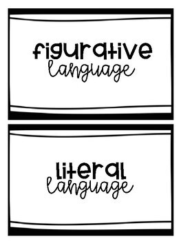 L.3.5a - Figurative and Literal Language Sort