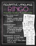 Figurative language Bingo game