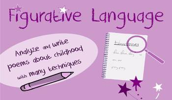 Figurative language in poetry lesson-Identify vocabulary in examples, writing