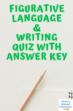 Figurative language/Grammar/Punctuation quiz with answer key