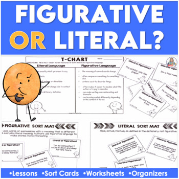 Figurative or Literal Sort Cards and Mini-Unit