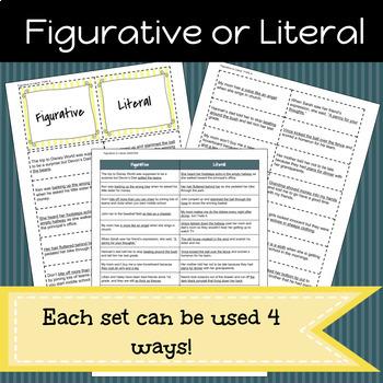 Figurative Language Game/Sort Pack