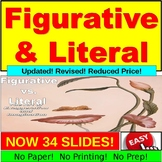 Figurative vs. Literal Lesson Plan PowerPoint