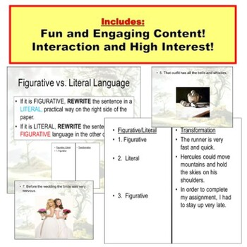Figurative Vs Literal Lesson Plan Powerpoint By Powerpoint Guru