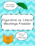 Figurative vs Literal Meanings!
