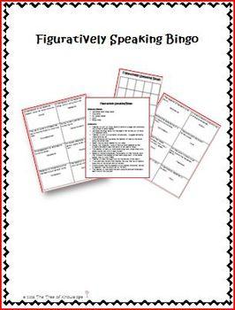 Figuratively Speaking Bingo