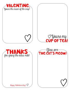 Figuratively Speaking Valentine Notes