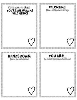 Figuratively Speaking Valentine Notes