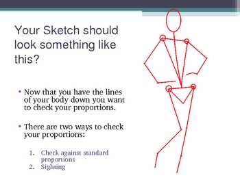 Figure Drawing PowerPoint - Lesson 1 Drawing the Structure of the Body