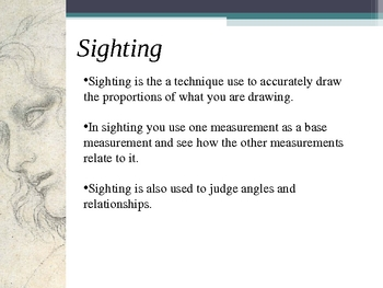 Figure Drawing PowerPoint - Lesson 3 Sighting