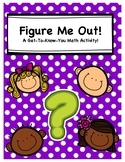 Figure Me Out - A Get-To-Know-You Math Activity