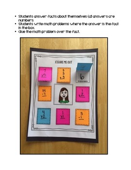 Figure Me Out: Back to School Activity