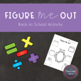 Figure Me Out {Beginning of the Year Activity}