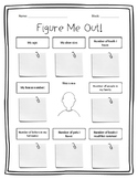 Figure Me Out! - Math Get To Know You