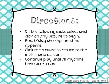 Figure Skating - Rhythm Reading Practice Game {ta titi rest}