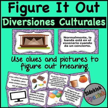 Figure it Out: Diversiones Culturales Vocabulary in Spanish
