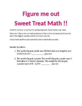 Figure me out Sweet Treat Math!