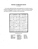 Figure of Speech,3 Puzzle Alliteration Package,Middle School and High School