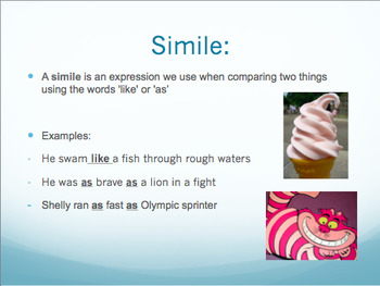 Figure of Speech- Simile, Personification, Metaphor PowerPoint and Worksheet