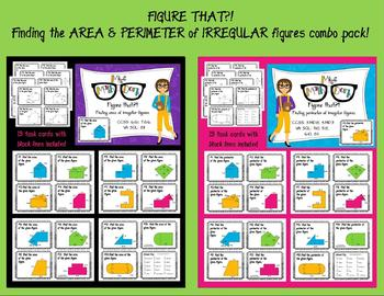 AREA and PERIMETER of irregular figure: Figure that?! BUNDLE PACK #spreadthelove