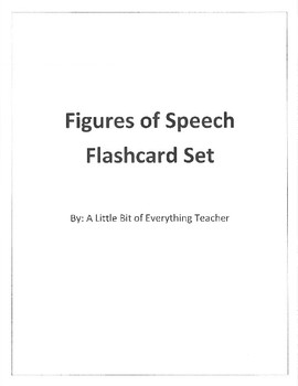 Figures of Speech Flashcards