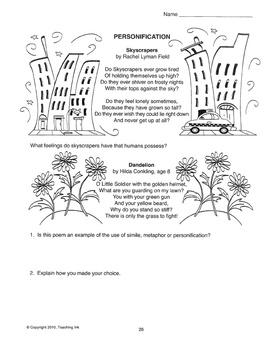 Figures of Speech (Grades 5-8) - by Teaching Ink