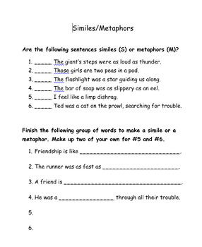 Figures of Speech Packet