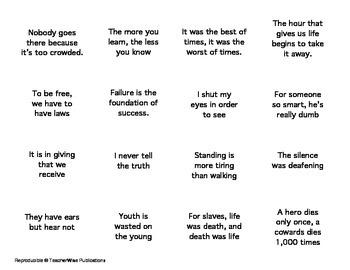 Figures of Speech: Paradox Flash cards