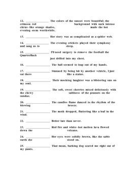 Figures of Speech Pre/Post Assessment