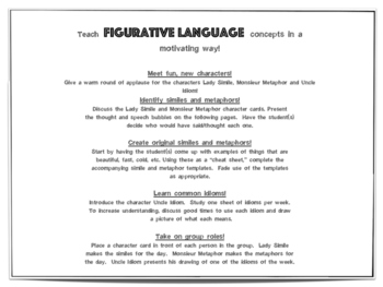 Figures of Speech: figurative language lesson with metaphors, similes and idioms