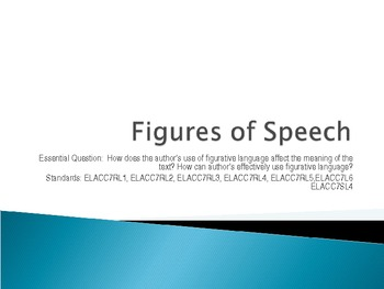 Figures of Speech using Poems and Short Stories