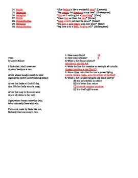 Figures of Speech (worksheet #1)