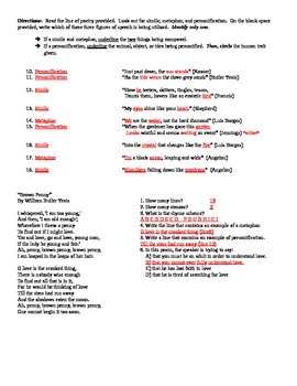Figures of Speech (worksheet #2)