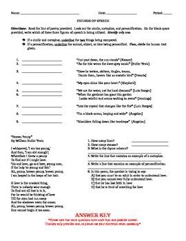 Figures of Speech (worksheet #2)