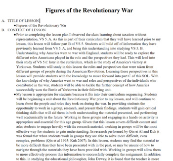 Figures of the Revolutionary War