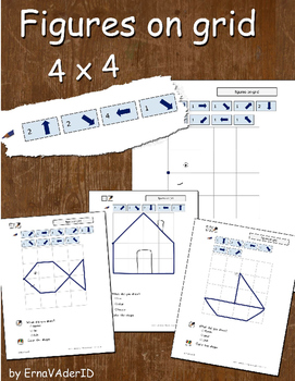 Figures on grid - 4 x 4