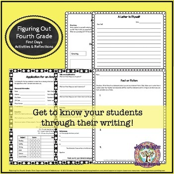 Figuring Out Fourth Grade: First Weeks' Activities and Reflections