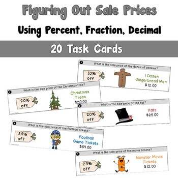 Figuring Out Sale Prices Using Percent - Decimal - Fraction