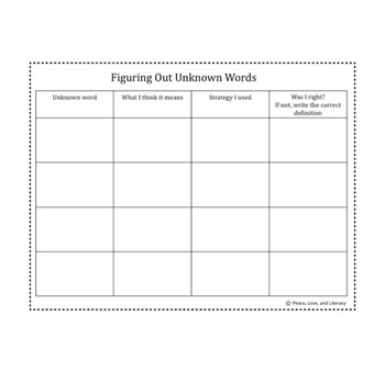 Figuring Out Unknown Words Bundle