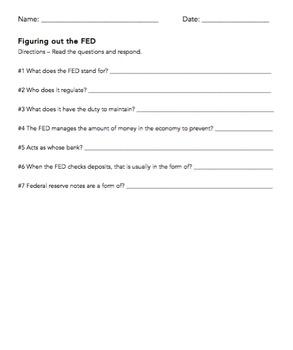 Figuring out the FED: VA Civics & Economics SOL CE 13d